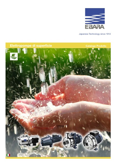 Ebara Pumps Europe - Catalogo Elettropompe di Superficie