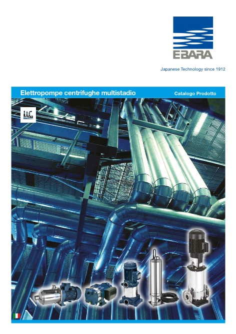 Ebara Pumps Europe - Catalogo Elettropompe Multistadio