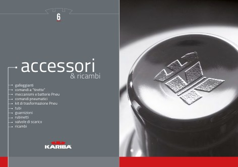 Kariba - Catalogo ACCESSORI & RICAMBI