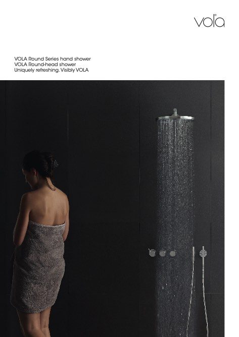 Vola - Catalogo Round Series hand shower