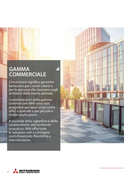 Mitsubishi Heavy Industries - Catalogue Gamma commerciale