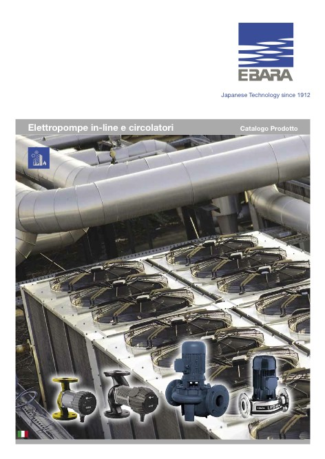 Ebara Pumps Europe - Catalogo Elettropompe in-line e circolatori