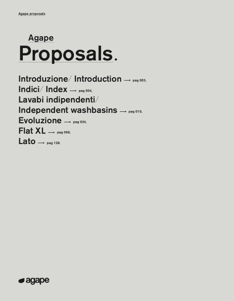 Agape - Catalogo Proposals