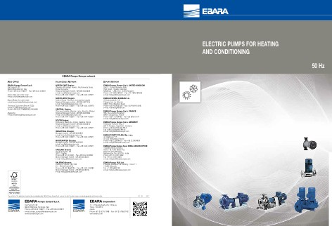 Ebara Pumps Europe - Catalogo ELECTRIC PUMPS FOR HEATING AND CONDITIONING
