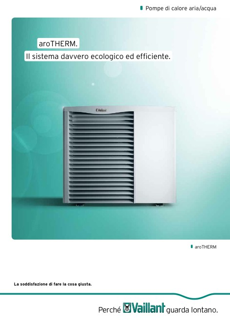 Vaillant - Catalogue Pompe di calore ARIA ACQUA