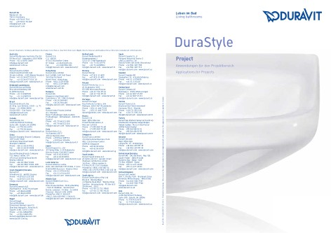 Duravit - Catalogo DuraStyle Project