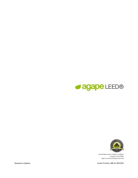 Agape - Catalogo Leed