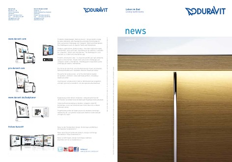 Duravit - Catalogo News, Edition 6