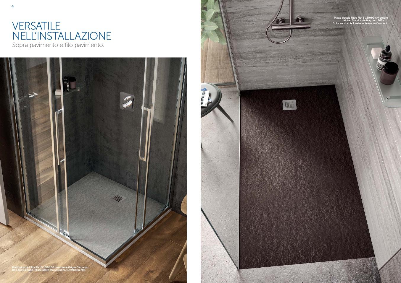 Posa Piatto Doccia Sopra Pavimento.Ideal Standard Ultra Flat